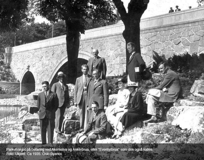 Parkutvalget ved Ankerbrua i 1935