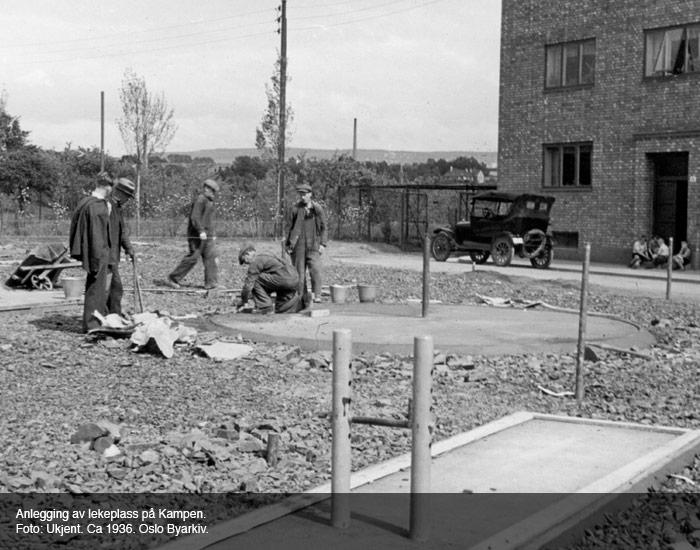 Lekeplass på Kampen i 1936