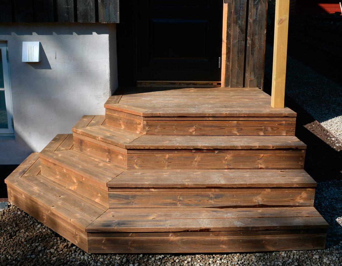 Snekring av trapp